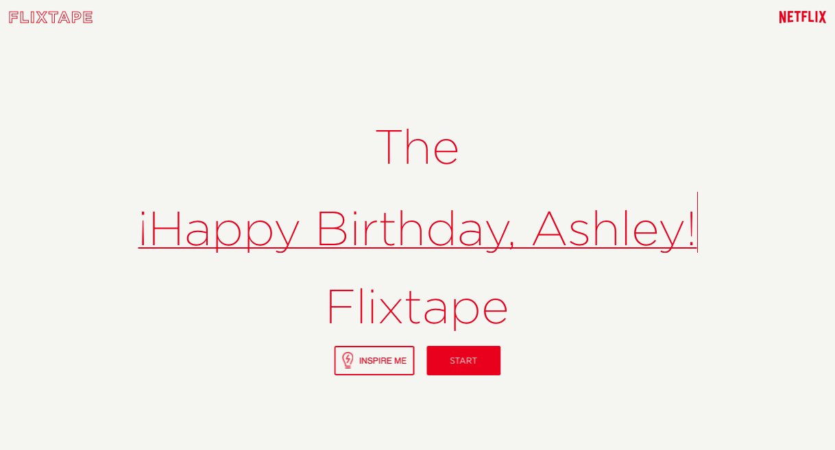 Come up with a title for your Flixtape Mix.